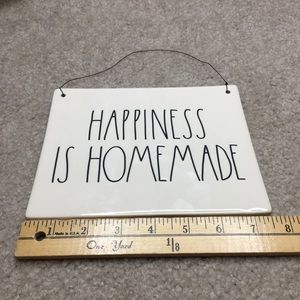 Rae Dunn New Happiness is Homemade Sign